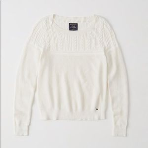Abercrombie & Fitch Cable Knit Crew Sweater